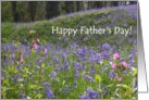 Father&rsquo;s Day Card - Bluebells card