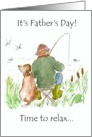 Father&rsquo;s Day - Gone fishin&rsquo; card