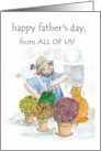 Father&rsquo;s Day Card &rsquo;from All of Us&rsquo; - Jolly Gardener card