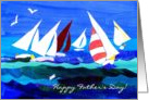 Father&rsquo;s Day Card - Sailing Boats card