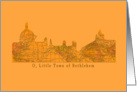 O Little Town of Bethlehem card