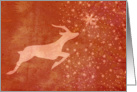 Christmas Prancer the Star Reindeer card