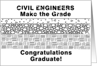 Funny Civil Engineering Graduation card