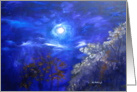 Moonglow Night Sky paining blank note card