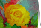 Yellow Rose - Get Well card