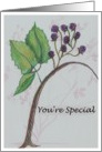 Happy Birthday- friend-botanical card