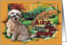 Dog Loves You Moore - Shihpoo - Maggie card