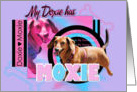 My Doxie Has Moxie - Dachshund - Abby card