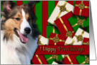 Happy Pawlidays - Sheltie card