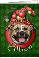 Christmas - Deck the Halls - Pitties - Tigger card