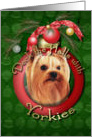Christmas - Deck the Halls - Yorkies card