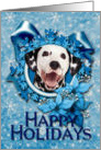 Happy Holidays - Blue Snowflake - Dalmatian card