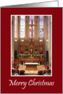 St. Mary Catholic Church - Beautiful Christmas Sanctuary card
