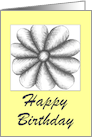 Happy Birthday Friendship Flower card