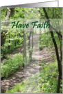Have Faith Trail - Conquer Cancer card