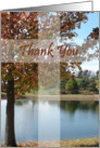 Thank You - Pastor Appreciation Card With Autumn Tree card