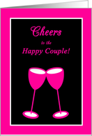 Congratulations Lesbian Engagement Pink Toasting Glasses card