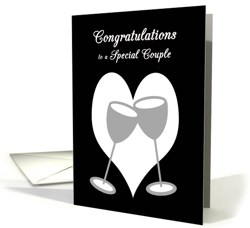 Congratulations Lesbian Wedding Silver Toasting Glasses