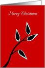 Christmas Greetings Simple Beautiful Tree Silhouette card