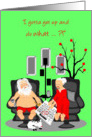 Christmas Humor Lazy Beer Drinking Santa and Wife card