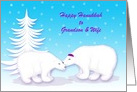 Custom Hanukkah Relationship Specific Humor Snuggling Polar Bears in Snow card