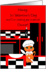 Valentine's Day Humor Cute Kitty Cat Chef card