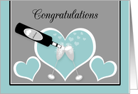 Congratulations Gay Engagement Toasting Champagne Glasses and Hearts card