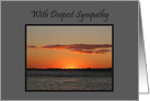 Sympathy Beautiful Golden Summer Sunset card