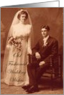 Wedding Wishes--Vintage Couple card