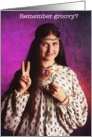 Hippie Woman - Happy Birthday card