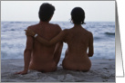 Nude Couple The Beach card