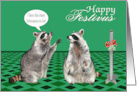 Festivus, general, raccoons talking about airing grievances with pole card
