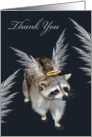 National Thank You Day, Raccoon Angel card