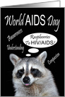 World AIDS Day, Raccoon giving a raspberry card