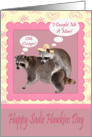 Sadie Hawkins Day, Girl raccoon catching a male raccoon card