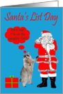 Santa's List Day, Raccoon on the naughty list card