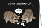 Devil's Night/Hell Night/Mischief Night, Raccoons card