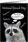 National Grouch Day, Raccoon giving a raspberry card
