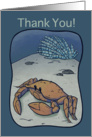 Thank you / Crab card