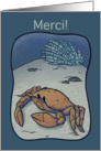 Merci! / Crab card