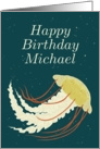 Happy Birthday Michael / Jellyfish card