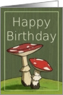 Happy Birthday / Mushroom card