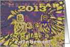 Celebrate 2013 New Year, Be Happy the Mayans Were Wrong , (blue) card