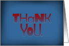 Thank You - in red & blue card