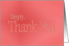 Simply Thank You in pink card