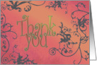 Thank You - daylight card