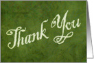 Thank You - parchment card