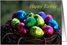 Happy Easter - Nest - Chocolate - Eggs card