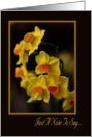 Just A Note To Say - Thank You - Yellow Daffodils card