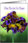 Welcome Home From Your Honeymoon - Frilly Pansy Flower card